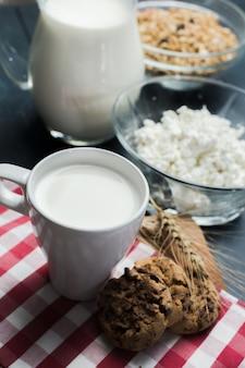 Milch, hüttenkäse