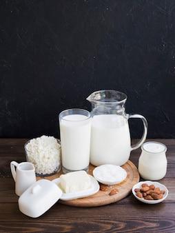 Milch, quark und milchprodukte