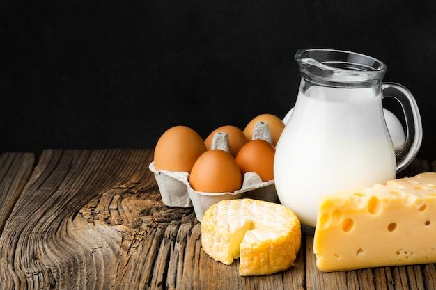Milchprodukte aus der nähe