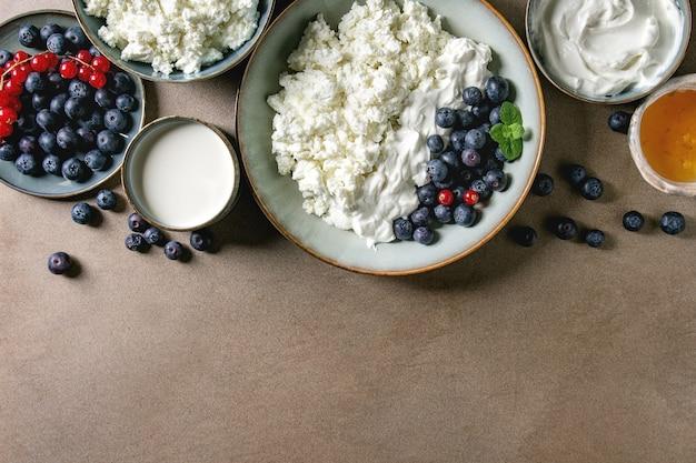 Milchprodukte zum frühstück