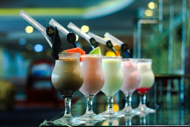 Milchshake und smoothies hintergrund