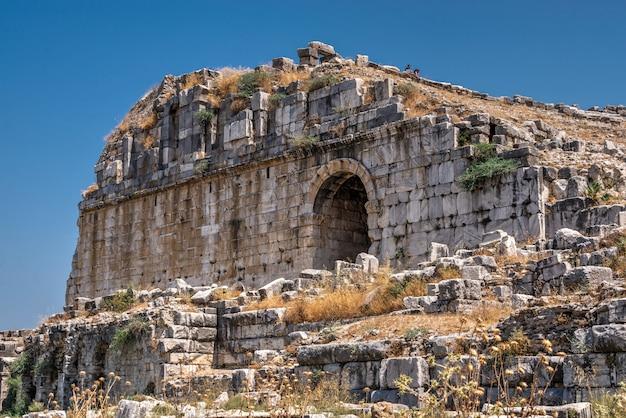 Milet alte stadt und theater in der türkei