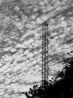 Militärische kommunikation mast