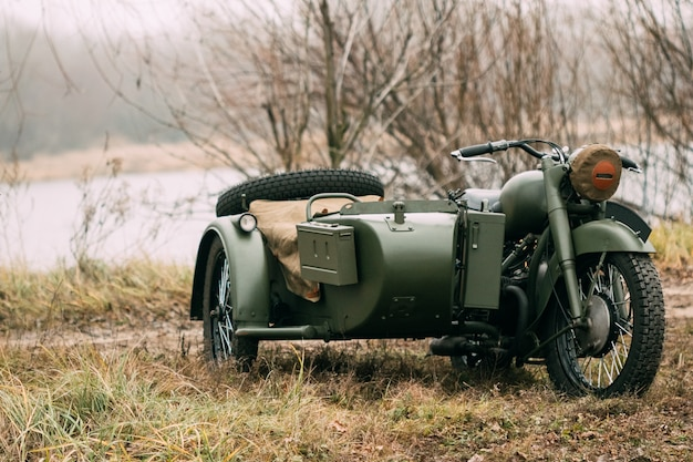 Militärmotorrad der sowjetischen armee