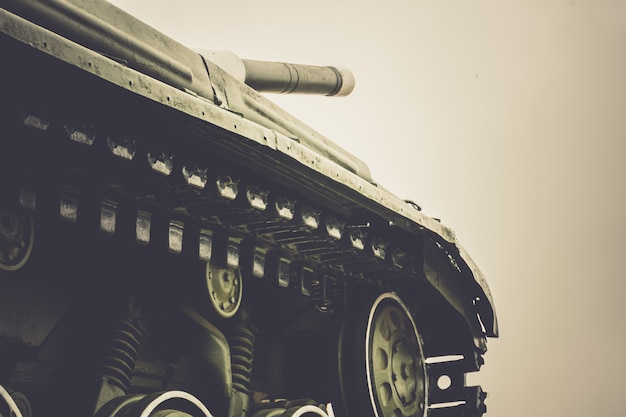 Militärpanzer in der stadt