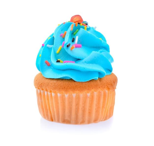 Mini leckeren cupcake lokalisiert auf weißem hintergrund