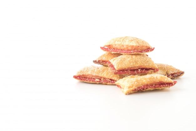 Mini pie keks mit erdbeermarmelade
