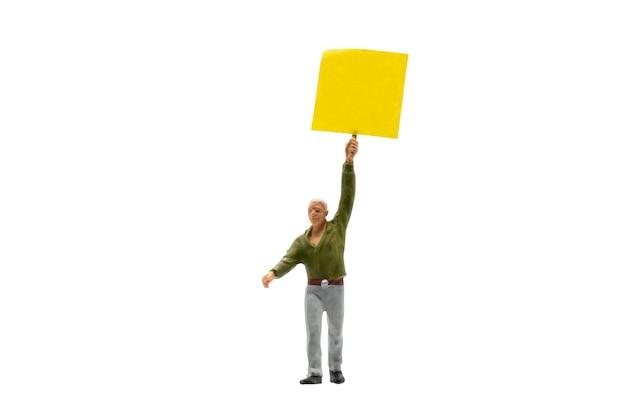 Miniaturmenschen, demonstrant isoliert