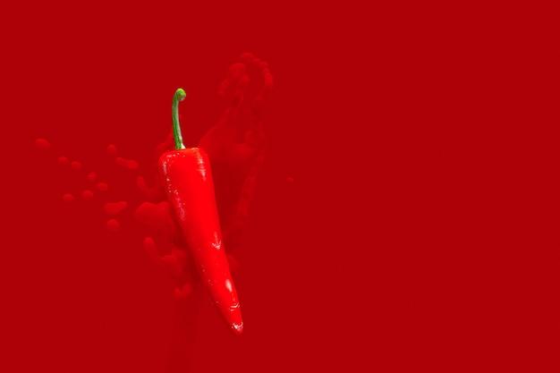 Minimal konzept. chilischote rot heiß
