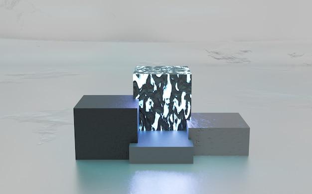 Minimale 3d-darstellung der geometrischen formszene