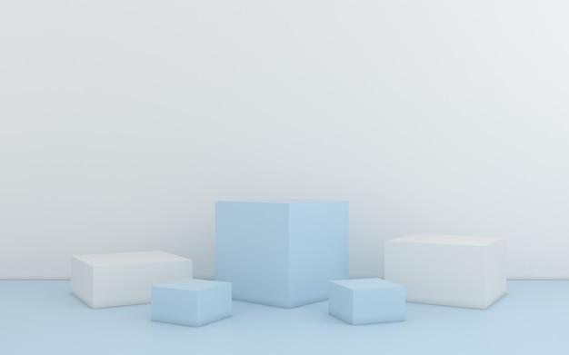 Minimale abstrakte geometrische. 3d-rendering