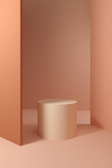 Minimale abstrakte geometrische formen & szene