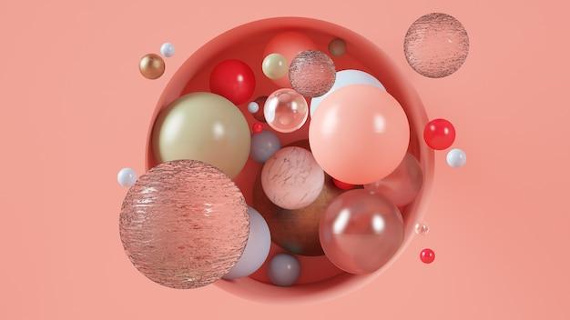 Minimale abstrakte kugeln illustration 3d rendering