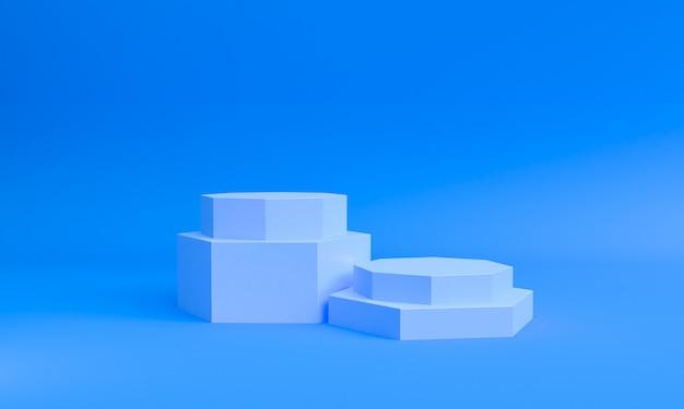 Minimale art der geometrischen formszene, wiedergabe 3d.