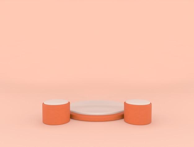 Minimale geometrische bühnenform für produktanzeige, 3d-rendering