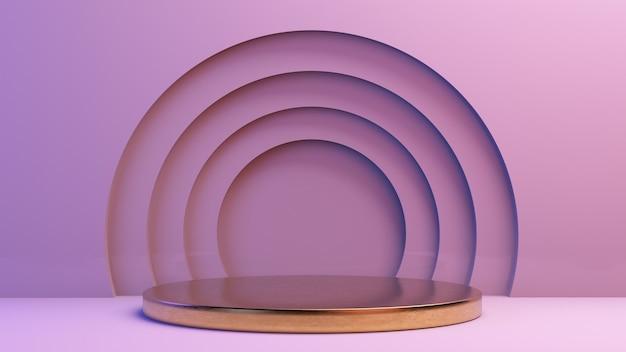 Minimale goldene plattform für die produktpräsentation