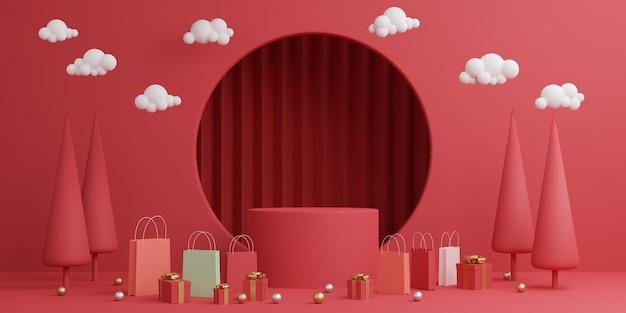Minimale mock-up-szene. podium, sockel, plattform, bühne für die präsentation kosmetischer produkte