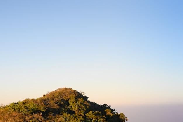 Minimale naturlandschaftsansicht