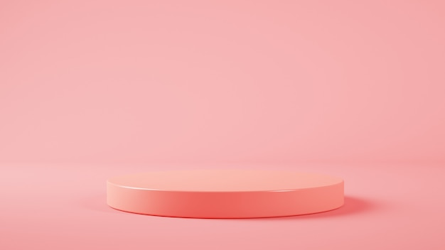 Minimale plattform für die produktpräsentation