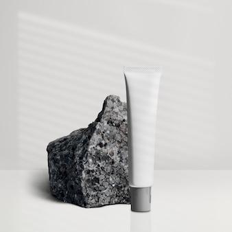 Minimale verpackung für schönheitsprodukte in tuben für die hautpflege