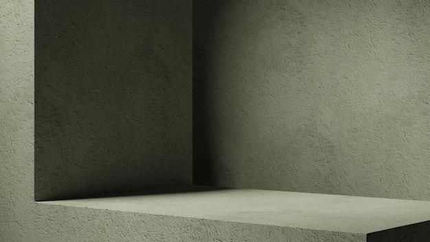Minimaler kosmetischer hintergrund für die produktpräsentation. sonnenschutzschatten auf beige gipswand. 3d-darstellung.