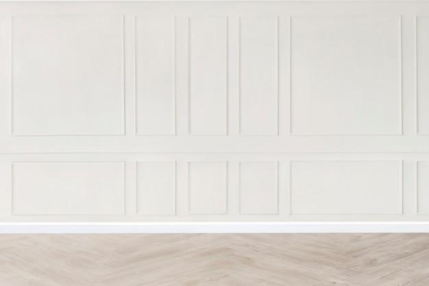 Minimaler leerer raum mit weiß gemustertem wandmodell