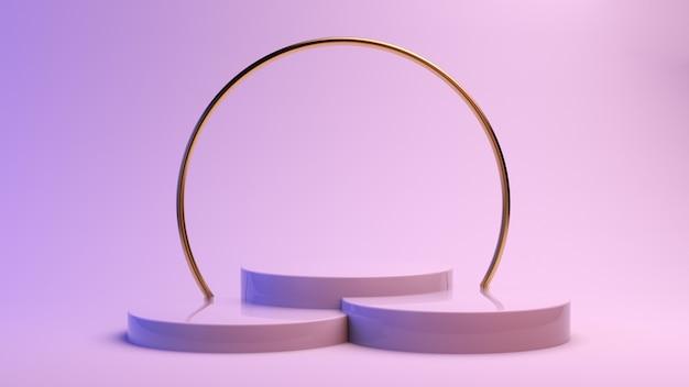 Minimaler plattformraum mit kreisförmigen formen