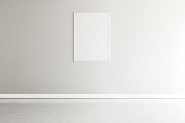 Minimaler raum mit elegantem rahmen