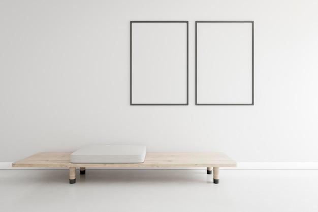 Minimaler raum mit eleganten möbeln