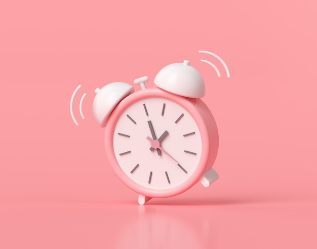 Minimaler rosa wecker