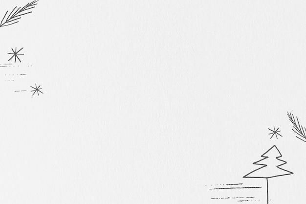 Minimaler weihnachtsbaum-social-media-bannerhintergrund mit designraum