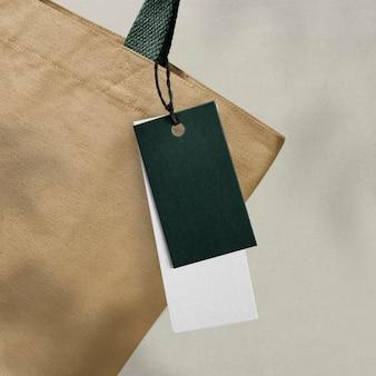 Minimales bekleidungslabel für modemarken