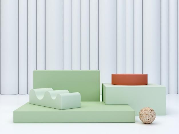 Minimales pastellfarben-podium, um ein produkt zu zeigen