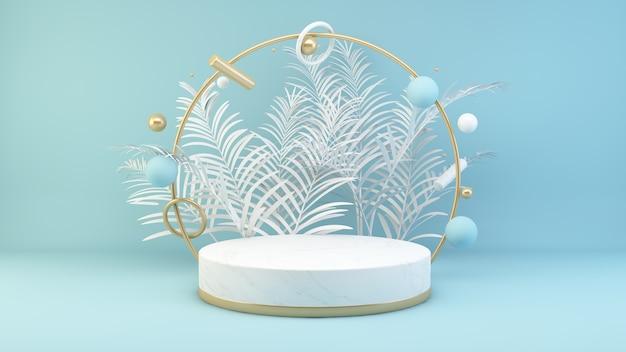 Minimales podium aus marmor und gold