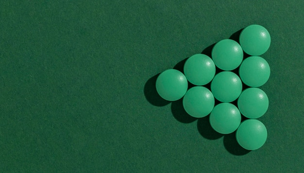 Minimales sortiment an medizinischen pillen