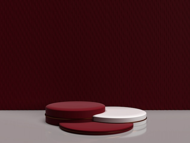 Minimalistic 3d, das abstrakte geometrische form für produkte überträgt