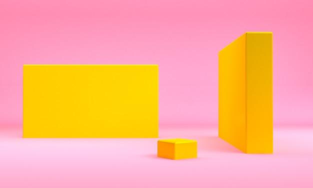 Minimalistische abstrakte formszene, 3d-rendering.