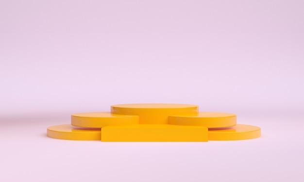 Minimalistische abstrakte formszene
