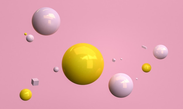 Minimalistische rosa abstrakte formszene