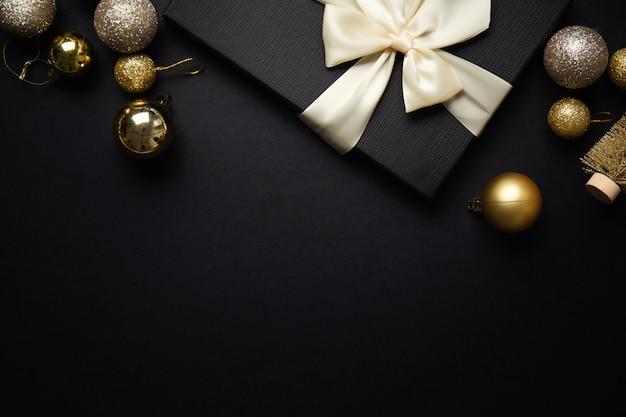 Minimalistische weihnachtsflachlage