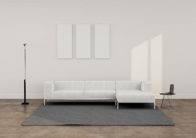 Minimalistischer lounge-render