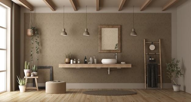 Minimalistisches badezimmer mit waschbecken