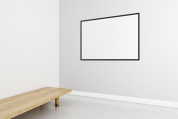 Minimalistisches interieur mit elegantem rahmen