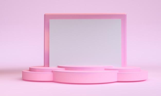 Minimalistt geometrische formszene minimal, wiedergabe 3d.