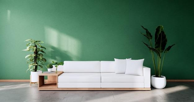 Mint-wohnzimmer-innenarchitektur. 3d-rendering