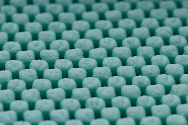 Mintfarbene reinigung fußmatte oder teppich textur
