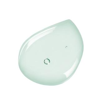 Minze farbiges flüssiges gel oder serummuster lokalisiert auf weiß