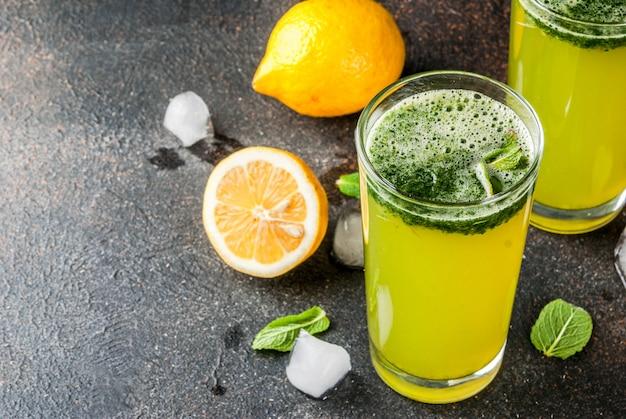 Minze masala soda cocktail