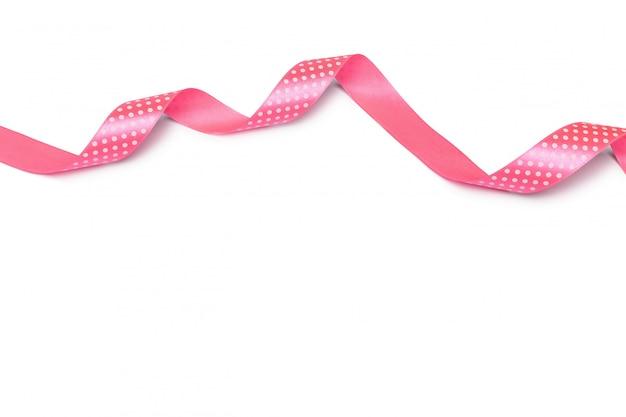 Mischen sie rosa band auf einem weiß