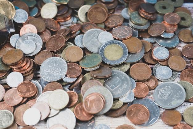 Mischung aus alten münzen